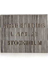 Acne Studios Vanessa Snake Effect Leather Box Clutch Black