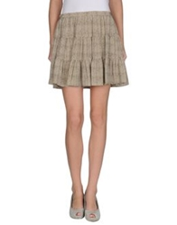 Joseph Mini Skirts Beige