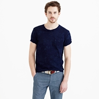 J.Crew Wallace And Barnes Indigo Pocket Tee In Floral