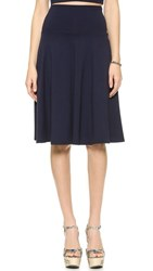 Susana Monaco High Waisted Tea Skirt Midnight