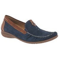 Gabor California Wide Loafers Navy Copper