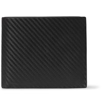 Dunhill Embossed Chassis Leather Billfold Wallet Black