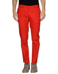 Grey Daniele Alessandrini Casual Pants Red
