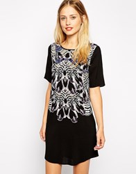 Warehouse Mirror Print Shift Dress Multi