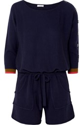 Eres Visuel Cashmere And Wool Blend Playsuit Navy