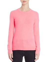 Lord And Taylor Petite Basic Crewneck Cashmere Sweater Plumeria