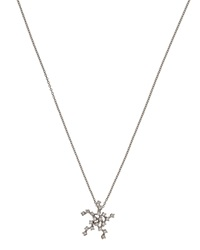 Bliss By Damiani 18K White Gold Stella Star Pendant Necklace W Diamonds