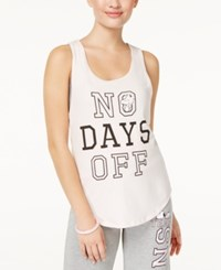 Love Tribe Peanuts X Juniors' No Days Off Graphic Tank Top Silver Peony