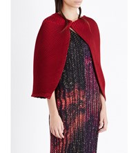 Issey Miyake Optical Pleated Bolero Red
