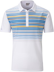 Ping Men's Cortes Chest Stripe Polo White