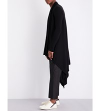 Rick Owens Open Front Knitted Cardigan Black