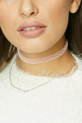 Forever 21 Mesh Choker Necklace Set Gold Peach