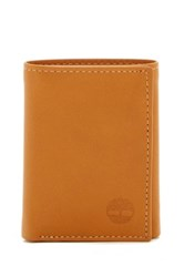 Timberland Cloudy Logo Leather Trifold Wallet Beige