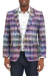 Robert Graham Men's Big And Tall Sunderbans Sport Coat Purple