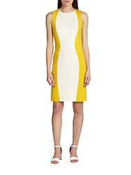 Piazza Sempione Colorblock Tank Dress Yellow White