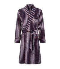 Harrods Of London Striped Cotton Robe Male Red