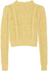 Isabel Marant Gracie Cable Knit Sweater Yellow