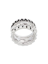 Karl Lagerfeld Stacked Chain Ring Metallic