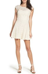 Bb Dakota Women's Lace Fit And Flare Dress Ivory