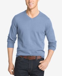 Izod Men's Big And Tall V Neck Sweater Ocean