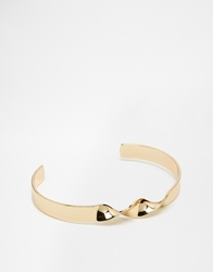 Asos Bangle With Twisted Detail Gold