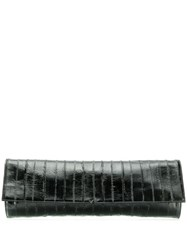 Giuseppe Zanotti Textured Clutch Bag Black
