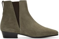 Isabel Marant Taupe Suede Patsha Boots
