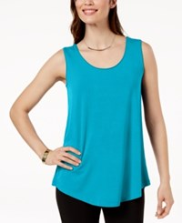 Jm Collection Scoop Neck Tank Top Created For Macy's Reef Aqua