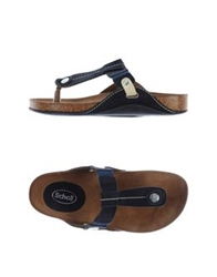 Scholl Thong Sandals Slate Blue