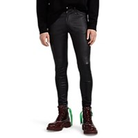 Undercover Leather Skinny Trousers Black