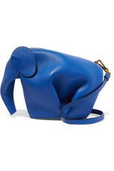 Loewe Elephant Leather Shoulder Bag Blue