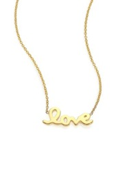 Roberto Coin Tiny Treasures 18K Yellow Gold Love Letter Necklace