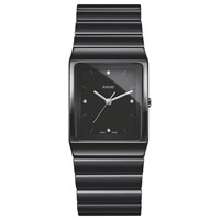 Rado R21700702 Unisex Ceramica Diamond Ceramic Bracelet Strap Watch Black