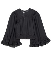 Mcq By Alexander Mcqueen Embroidered Top Black