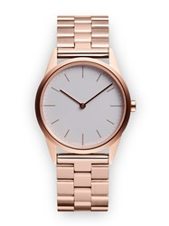Uniform Wares C33 Women's Two Hand Watch In Pvd Rose Gold With Pvd Rose Gold Linked