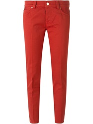 People People Slim Fit Trousers Red