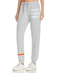 Spiritual Gangster Good Vibes Printed Sweatpants Heather Grey
