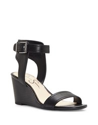 Jessica Simpson Cristabel Wedge Sandals Black