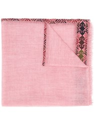 Faliero Sarti Embroidered Scarf Pink And Purple