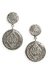 Virgins Saints And Angels Cathedral Drop Earrings Silver