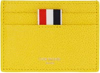 Thom Browne Yellow Single Card Holder