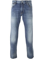 Emporio Armani Rolled Up Jeans Blue