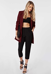 Missguided Marrie Cropped Peg Leg Trousers Black Black
