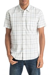 Quiksilver Men's Everyday Check Woven Shirt Snow White