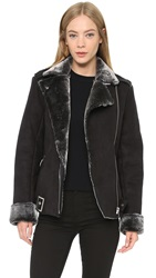 Minkpink Under Control Sherpa Jacket Black Charcoal