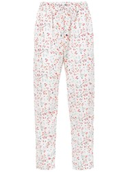 Olympiah Printed Alberelle Trousers White