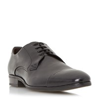 Bertie Relay Toecap Detail Leather Derby Shoes Black