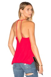 Krisa Crossed Back Cami Red
