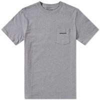 Patagonia P6 Logo Pocket Tee Grey