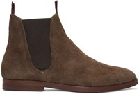 Hudson H By Brown Suede Tamper Boots